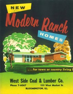 New Modern Ranch Homes, 1956.  National Plan Service  From the Association for Preservation Technology (APT) - Building Technology Heritage Library, an online archive of period architectural trade catalogs. It contains hundreds of old house plan catalogs. Select your era and flip through the pages.