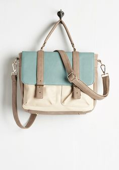 Agree to Master's Degree Bag. Your chic skills will become legendary when you carry this ModCloth-exclusive satchel across campus! #mint #modcloth