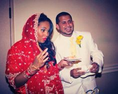 Monica and Kuldip's Traditional Wedding.... She's Black and he's Punjabi Indian.  Married Four Years Now!