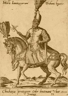 Janissary, from Abraham De Bruyn's costume book Diversarlum Gentium Armatura Equestri, the first plates of which are dated 1575.