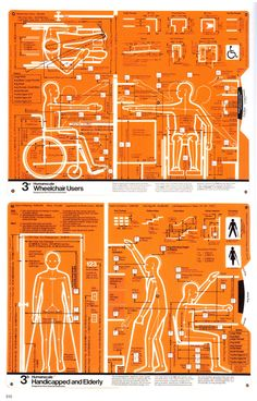 Wheelchair users. Handicapped and Elderly by Henry Dreyfuss Associates. MIT Press, 1974: Invaluable for designing aids for living. via thefunambulist #Bioengineering