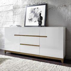 Buffet en bois bicolore 2 portes 3 tiroirs L180cm RIVA port offert      Longueur : 180 cm     Largeur : 40 cm     Hauteur : 85 cm 479