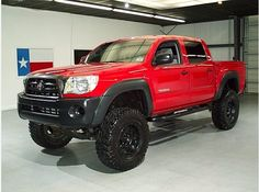 Red Toyota Tacoma