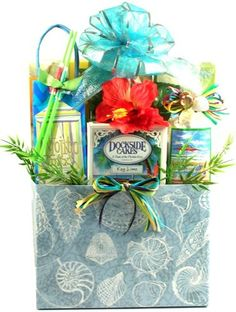 Tropical Breeze: Snacks Florida Gift Basket-Tropical Breeze: Snacks Florida Gift BasketsWhat a gorgeous gift for a day at the beach, for any occasion or Holiday. The refreshing taste of Florida from Key Lime to the delicious tang of tropical fruits College Gift Baskets, Summer Gift Baskets, Housewarming Gift Baskets, Best Gift Baskets, Wine Country Gift Baskets, Gift Baskets For Women, Themed Gift Baskets, Christmas Gift Baskets, Raffle Baskets