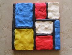 Black sticks with playdoh? Piet Mondrian, Mondrian Dress, Artists For Kids, Art For Kids, Mondrian Art Projects, Famous Artists Paintings, Ecole Art, Preschool Art, Art Lesson Plans