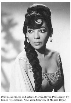 Monica Boyar, Dominican dancer, Broadway star, and entertainer. She is most notable for introducing the merengue to the US at the 1939 New York World's Fair and being one of the first notable Dominican public figures in the world.
