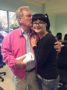 Robert Wagner and Pauley Perrette (Anthony DiNozzo Sr. and Abby - NCIS).