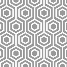 Stoff grafische Muster - Stoff Patchwork Mint Condition Hexagon grau - ein Designerstück von Naehhimmel bei DaWanda