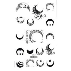 Sun, Star and Moon Tattoo Designs with meaning for on wrist, back, finger or behind the ear. Small full or half moon tattoo designs for Guys and Girls.