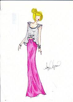 fashion illustration - pretty in pink