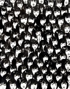 Ninety One Good Chinese Girls, ink on paper