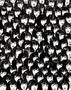 NinetyOne Good Chinese Girls, ink on paper