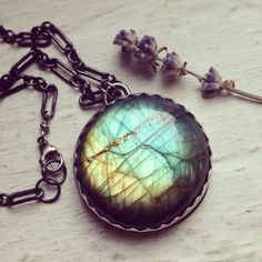 Aurora Borealis Pendant  Bound & Forged by SoliloquyJewelry