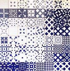 Present and Correct - Blue Tiles