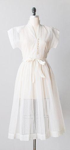 delicate air dress | vintage 1940s sheer white dress
