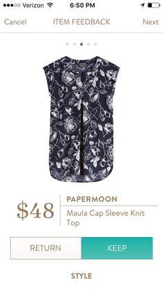 Papermoon Maula Cap Sleeve Knit Top, Stitch Fix
