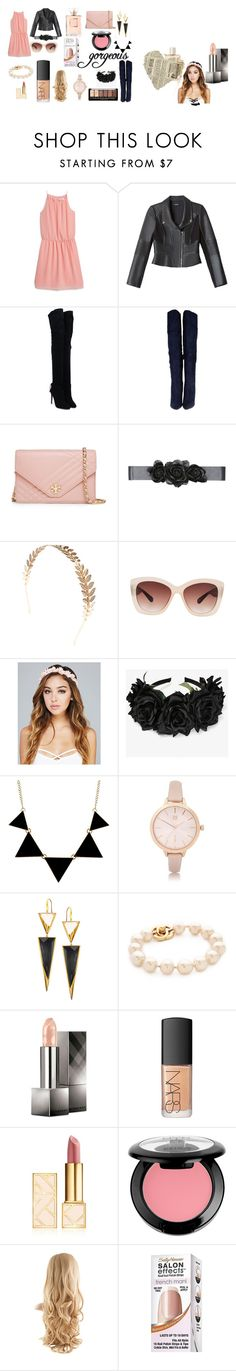 """Plain and pretty"" by xoxomahjabeenxoxo on Polyvore featuring MANGO, Bebe, Aquazzura, Tory Burch, Wet Seal, Eloquii, River Island, Lana, Burberry and NARS Cosmetics"
