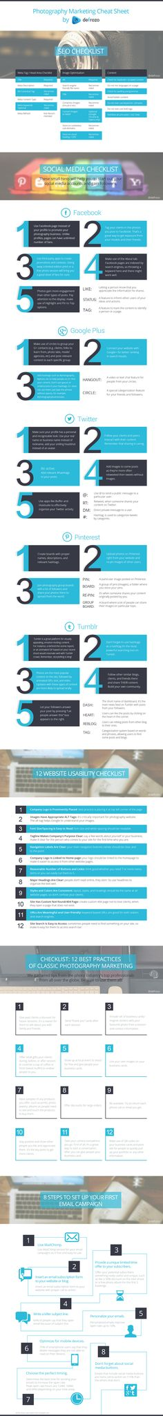 20 Superb Infographics and Cheat Sheets to Help You Grow Your Photography Business Fast
