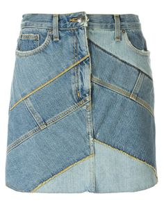 Marc by marc jacobs Patchwork Denim Skirt in Blue | Lyst