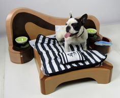 What a cute dog bed. When I get a Great Dane she/he will be so spoiled