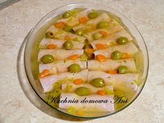 Kuchnia domowa Ani: Roladki szynkowe z pieczarkami w galarecie Watermelon, Fruit, Food, Essen, Meals, Yemek, Eten