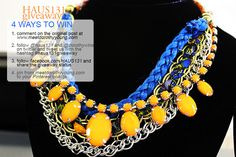 Want to win these 2 necklaces? Re-Pin and click the link!