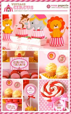 vintage carnival circus party DIy printables by http://www.etsy.com/shop/venspaperie