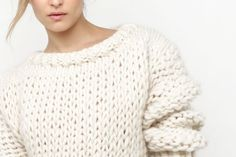 """""""This Wool and the Gang sweater, a collaboration with Good Housekeeping, is a real stand-out piece. Chunky and oversized, make it with our Crazy Sexy Wool and US17+US50 needles."""""""