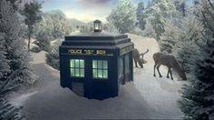 Doctor Who Christmas Tardis Snow Doctor Who Tumblr, Doctor Who Fan Art, Bbc Doctor Who, Doctor Who Tardis, The Tardis, Catherine Tate, Arthur Darvill, Alex Kingston, Christopher Eccleston