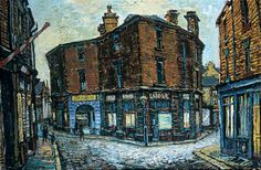 Clayton Square, Brighouse, West Yorkshire by Peter Brook      Date painted: 1960     Oil on canvas, 82 x 122 cm