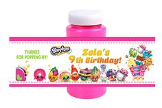 Shopkins Birthday Bubble Wrappers Party Favors, $3.99
