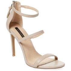Ava & Aiden Women's Open-Toe Leather High Heel Sandal - Cream/Tan,... ($79) ❤ liked on Polyvore featuring shoes, sandals, tan high heel sandals, zip back sandals, cream sandals, cream heeled sandals and leather high heel sandals