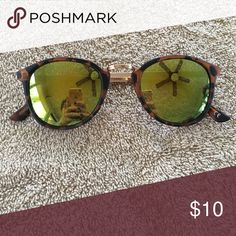 Brown Tinted Cheetah Sunglasses never worn. not nasty gal just got publicity. Nasty Gal Accessories Sunglasses