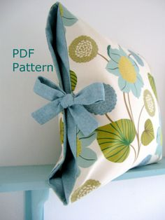 Tied cushion cover.  Great outdoor idea.