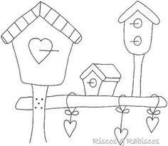 birdhouse coloring pages - Google Search