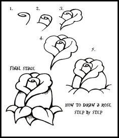 dessiner une rose: