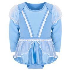 Disney Store Princess Cinderella Onesie Costume Bodysuit Size 6-12 Months