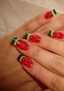 Unhas melancia