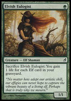 Elvish Eulogist - Creature - Elf Shaman - Tree - Green - Lorwyn - Magic The Gathering Trading Card