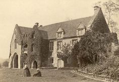 Stoneleigh Estate Gate House, built in 1346, located in Warwickshire, England. The estate was purchased by my ggggggggggggggg-grandfather, Sir Thomas Leigh, in 1561, and was in possession of the Leigh family for many generations after which. Photo taken 1856.