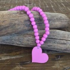 Heart Necklace | Pink #oliverthomas #zavthebrave #heart #heartnecklace #girlsnecklace #necklace #kidswear #kidsnecklace