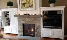 Gas fireplace stone Vaneer cast mantle