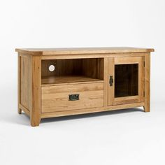 Westbury Reclaimed Oak TV Cabinet (Sizes Medium, Wide) - Medium - TV Unit - Ametis - Space & Shape - 1
