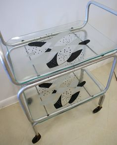 Vintage Mid Century Modern Atomic Bar Cart