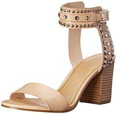 Enzo Angiolini Women's Glittax Dress Sandal, Natural, 8.5 M US