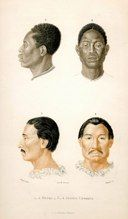ethnicities negré and indian charrua french 1861 hand col.engr SOLD