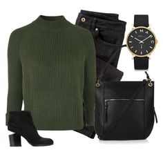 """Untitled #9"" by bethchand on Polyvore featuring Wrap, Topshop, Alexander Wang, Oasis, Marc by Marc Jacobs, topshop, marcjacobs, khaki and winteressentials"