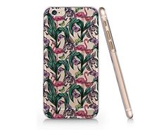 Flamingo And Flower Pattern Clear Transparent Plastic Phone Case for Iphone 6 6s_ SUPERTRAMPshop (VAS270) SUPERTRAMPshop