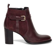 Boots boucle cuir bordeaux