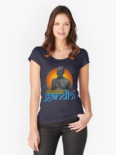 1045e658d Inspirational Gandhi Quote | Slim Fit T-Shirt
